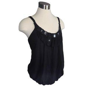 Charlotte Russe Large Black Blouson Camisole